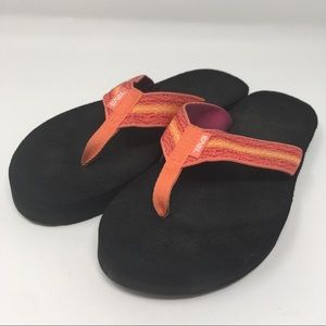 Teva Pink Orange Aztec Flip Flops Women's 9 EU 40
